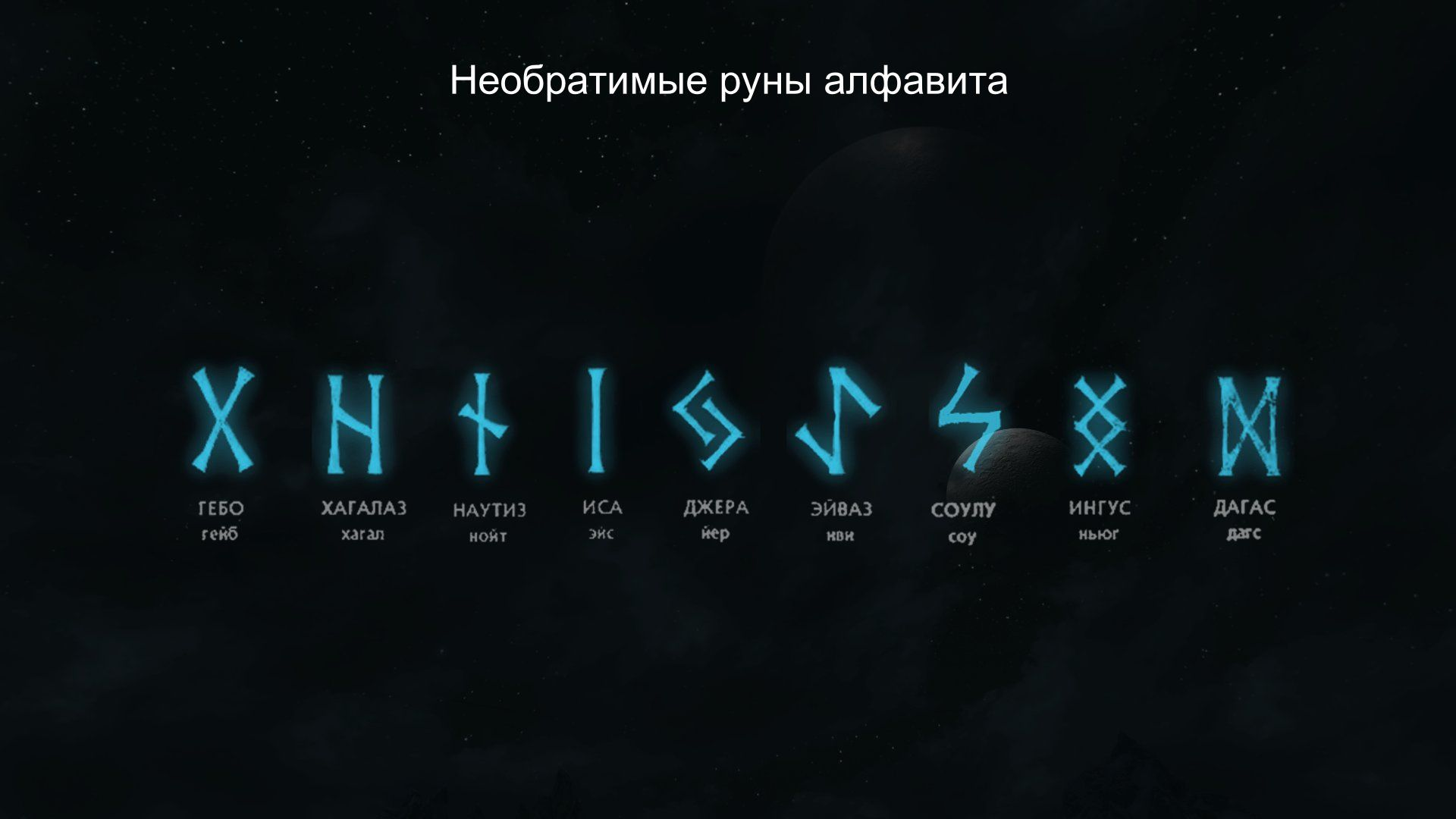 Необратимые символы алфавита
